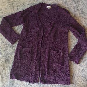 Listicle Cardigan purple L